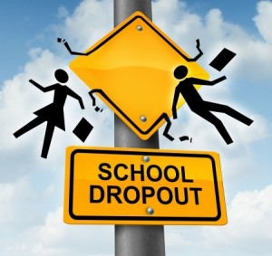 Image os sign that says school dropout indicating dropout rate is higher than ever