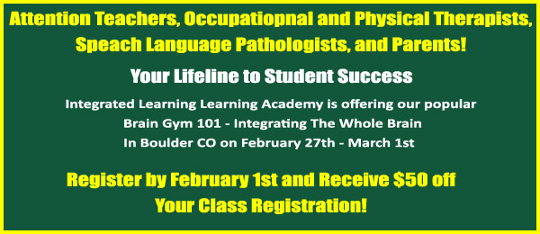 brain gym 101 class offered in boulder co
